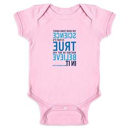Pop Threads The Good Thing About Science NDGT Quote Pink 6M