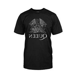 Queen - Classic Logo - White On Black - Adult T-Shirt - XL