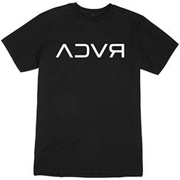 RVCA Men's Big Short Sleeve Logo T-Shirt, Black, L