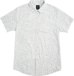 RVCA Men's Cleta Short Sleeve Woven Shirt, Antique/White, L