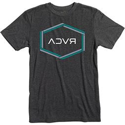 RVCA Men's Hexest Short Sleeve T-Shirt, Black, XL