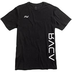 RVCA Men's Sides Short Sleeve Performace T-Shirt, Black, M