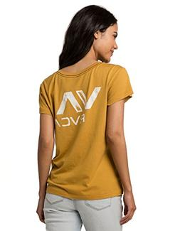 RVCA VA Ink Pocket Tee, Yellow, Large
