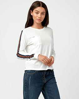 RVCA Women's Day Sleeves Striped Long Sleeve T-Shirt Vintage