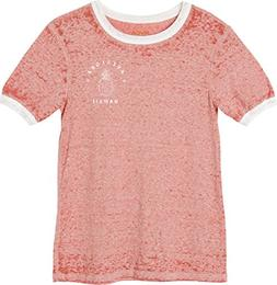 RVCA Women's Rvcaloha Ringer T-Shirt, Rustic Red, XS