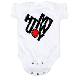 Red Hot Chili Peppers Baby Onesie White 'I'm With You' Tilte