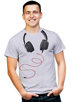 Retreez Cool DJ Disc Jockey Headphone Around Neck Graphic Pr
