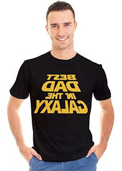 Retreez Funny Best Dad in The Galaxy Father Day Gift Graphic