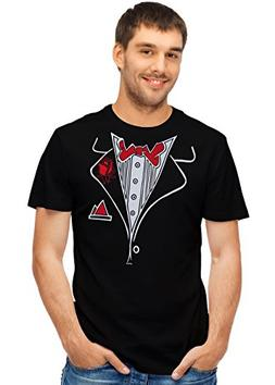 Retreez Funny Classic Tuxedo Red Bow Tie with Rose Graphic P