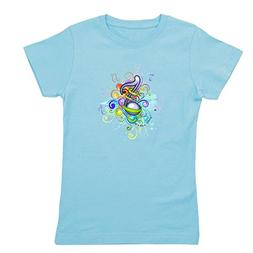 Royal Lion Girl's Tee T-Shirt  Musician Music Note Colorful