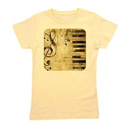 Royal Lion Girl's Tee T-Shirt Musician Piano Keys Music Note