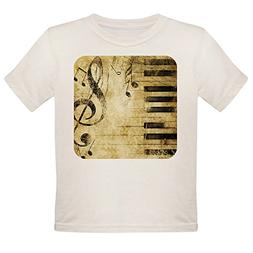 Royal Lion Organic Toddler T-Shirt Musician Piano Keys Music