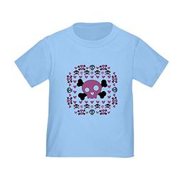 Royal Lion Toddler T-Shirt Pink Hearts and Skulls - Baby Blu