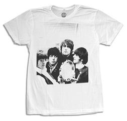 "The Beatles ""Tambourine"" Band Image White Adult T-shirt"