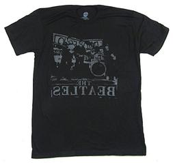 The Beatles Vintage Band Stage Pic Image Black T Shirt