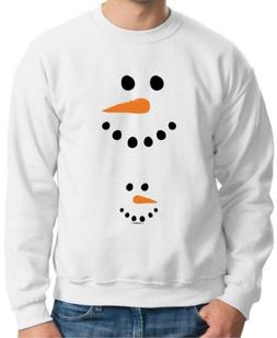 ThisWear Pregnant Snowman Belly Maternity Themed Crewneck Sw