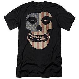 Trevco Misfits Punk Rock Band Fiend Skull On American Flag A
