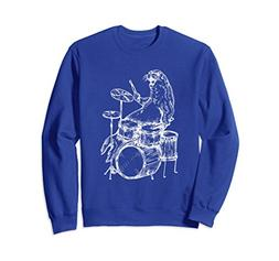 Unisex SEEMBO Sea Lion Playing Drums Drummer Sweatshirt Band