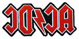 AC DC ACDC Rock Band t Shirts Logo MA27 Embroidery iron on P