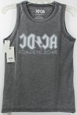 Lucky Brand AC/DC Back In Black Tank Top Gray Women's T-Shir