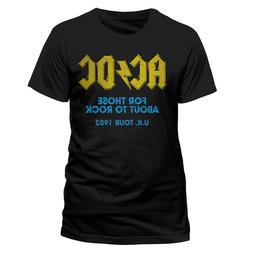 AC DC For Those About To Rock UK Tour 1982 T Shirt Official