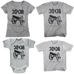 ACDC For Those About to Rock Cannon Family T Shirt Set Rock