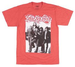 Aerosmith Rock Band Photo Graphic T-Shirt Music Mens Red
