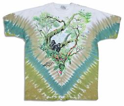 Liquid Blue African Rainforest Gorillas Multicolor Tie Dye T