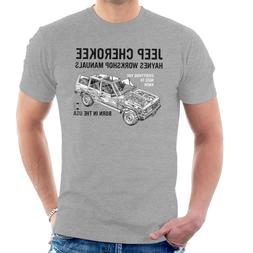 American Classic Car Jeep Cherokee Black Men'S T-<font><b>Sh