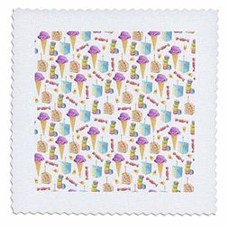 3dRose Anne Marie Baugh - Pattern - Cute Purple and Blue Ice