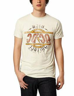 Authentic AC/DC High Voltage Distressed Logo Slim Fit T-Shir
