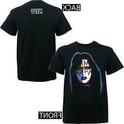 Authentic KISS Band Space Man Ace Frehley With Make Up T-Shi