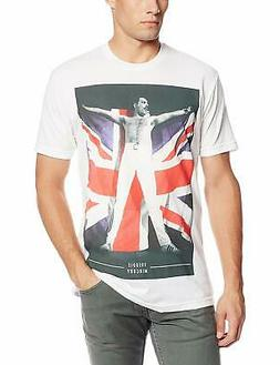 Authentic QUEEN Band Freddie Flag Logo Slim Fit T-Shirt S-2X