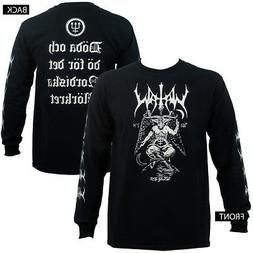 Authentic WATAIN Band Baphomet Throne Long Sleeve T-Shirt S-
