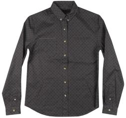 banded cobra button up long sleeve shirt