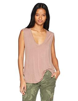 RVCA Junior's Bender Muscle Tank, Mauve, L
