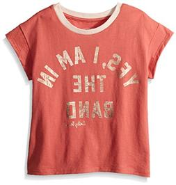 Lucky Brand Big Girls' Graphic Tee, Paola Faded Rose, Large