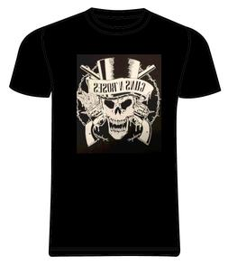 Bravado Guns N Roses Band T Shirt Mens Black Skull Top Hat Y