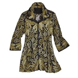 Parsley & Sage Women's Button-Down Tunic Shirt - All-Over Em