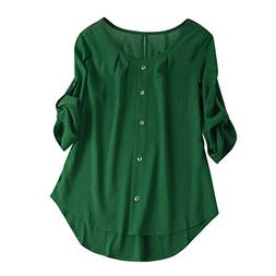 vermers Women Casual Button Down Shirt - Clearance Women Lon