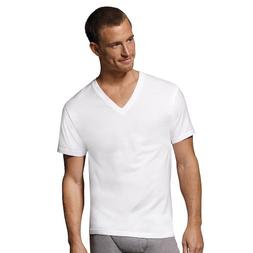 Hanes Men's ComfortSoft V-Neck Undershirt 777, S, White