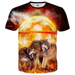 Yasswete Cool Graphic t Shirts, Unisex Hipster Creative 3D W
