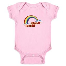Pop Threads Death Metal Retro Rainbow Pink 12M Infant Bodysu