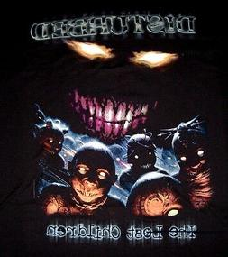 "DISTURBED /""LOST CHILDREN/"" ALBUM COVER BLACK T-SHIRT NEW OFFICIAL ADULT BAND"
