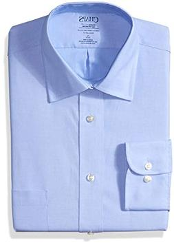 Chaps Men's Dress Shirts Regular Fit Stretch Collar Solid, M