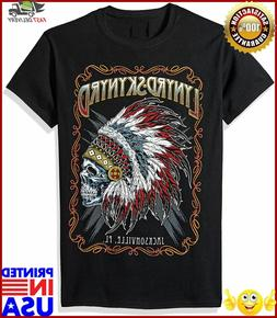 FEA Mens Lynyrd Skynyrd Indian Skeleton Mens Shirt
