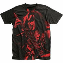KISS Gene Simmons T Shirt Mens Licensed Rock N Roll Music Ba