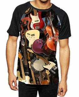 Guitar Strings Collection Band Men's All Over Graphic Contra