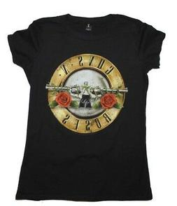 Guns N Roses Distressed Bullet Girls Jr Large Black