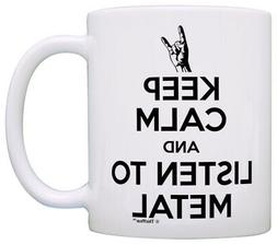 Heavy Metal Music Gifts Keep Calm and Listen to Metal Coffee